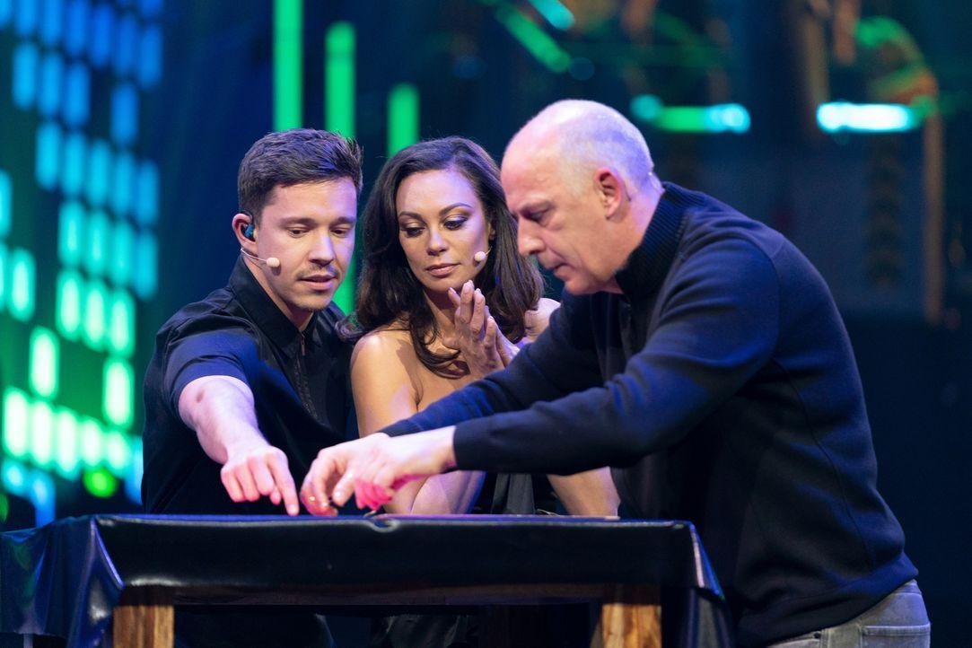 (v.l.n.r.) Nico Santos; Lilly Becker; Mario Basler - Bildquelle: Jens Hartmann ProSieben / Jens Hartmann