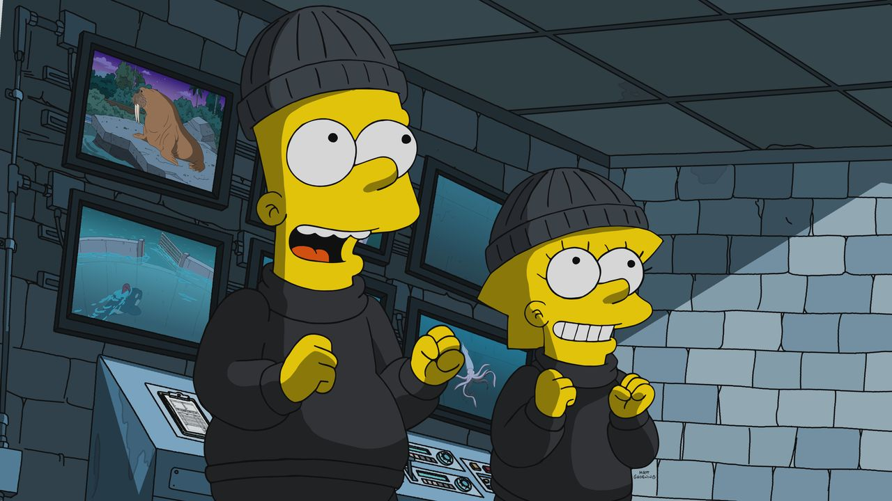 Bart (l.); Lisa (r.) - Bildquelle: 2019-2020 Twentieth Century Fox Film Corporation.  All rights reserved.