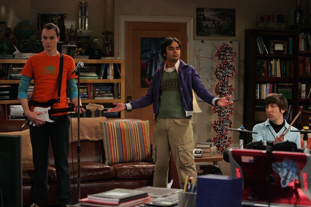 Genießen ihre Freizeit: Sheldon (Jim Parsons, l.), Rajesh (Kunal Nayyar, M.) und Howard (Simon Helberg, r.) ... - Bildquelle: Warner Bros. Television