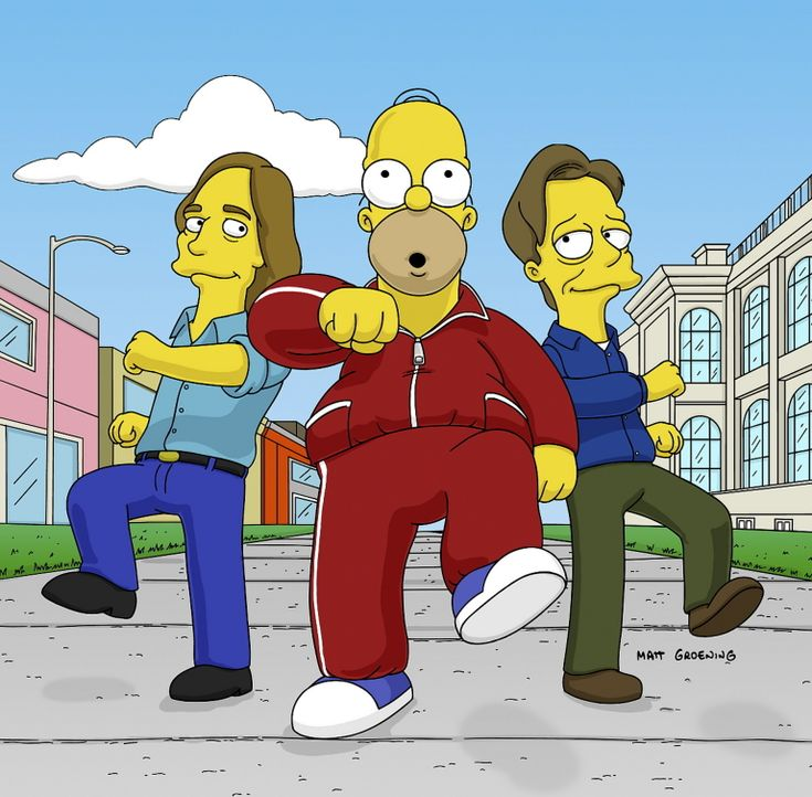 Nachdem Homer (M.) seinen Führerschein verloren hat, entdeckt er eine neue Leidenschaft: spazieren gehen ... - Bildquelle: TWENTIETH CENTURY FOX FILM CORPORATION