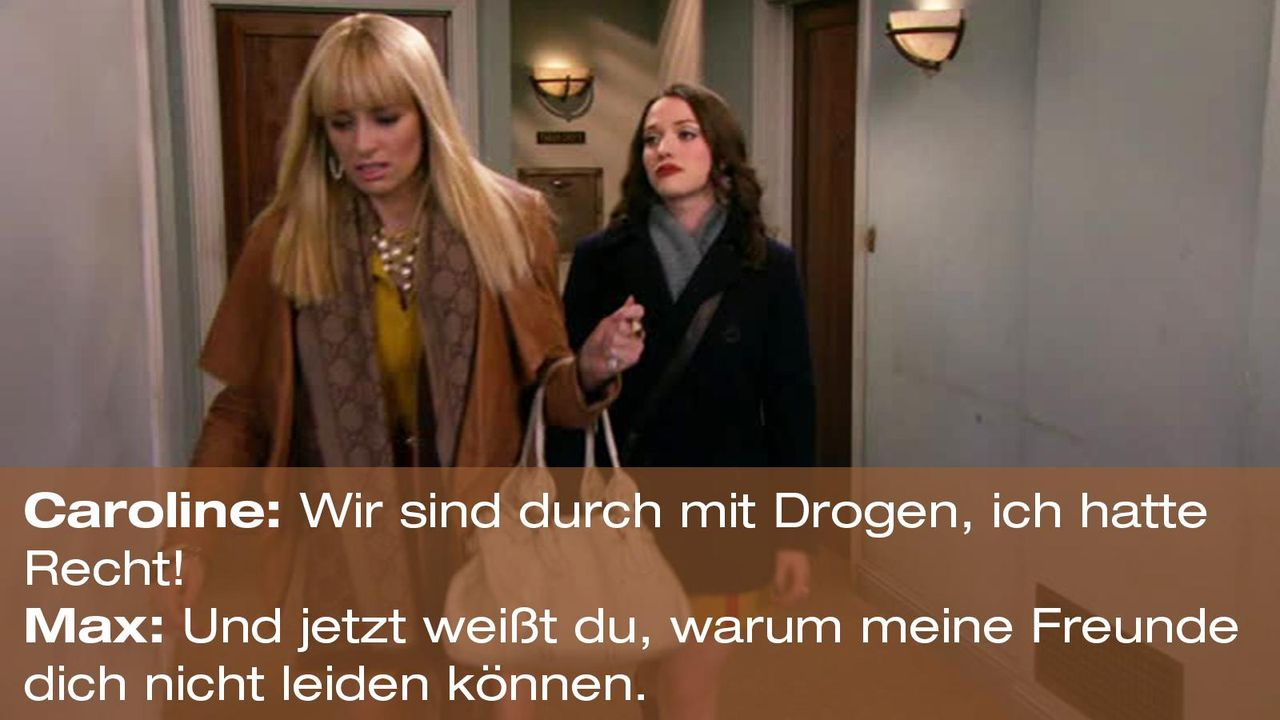 2-broke-girls-zitat-quote-staffel2-episode12-breite-weihnachten-max-freunde-warnerpng 1600 x 900 - Bildquelle: Warner Bros. International Television