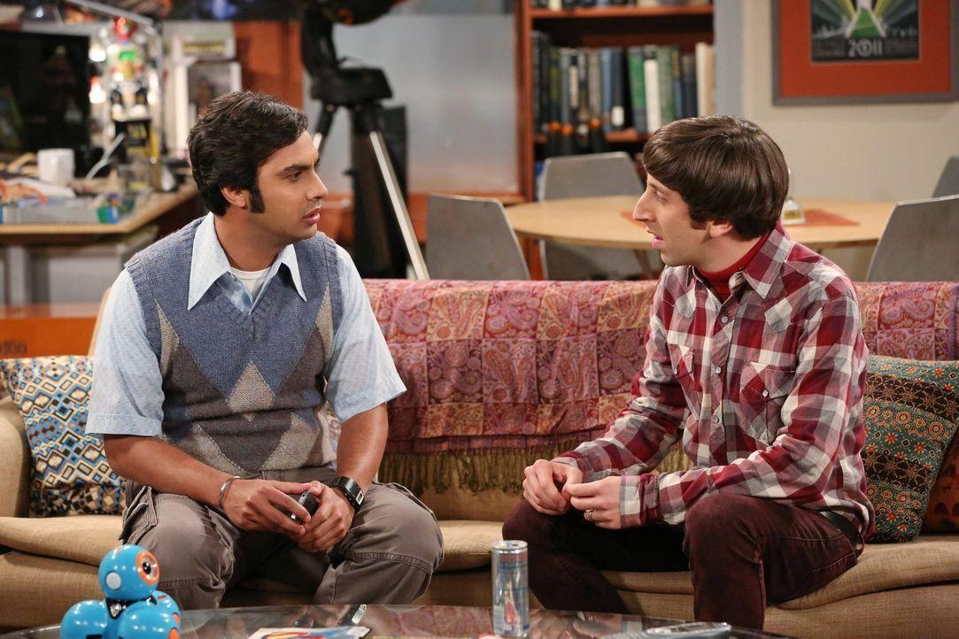 Während Leonard sein Schnarch-Problem in den Griff bekommen möchte, findet Raj (Kunal Nayyar, l.) heraus, dass sich seine Eltern getrennt haben - wa... - Bildquelle: Warner Bros. Television