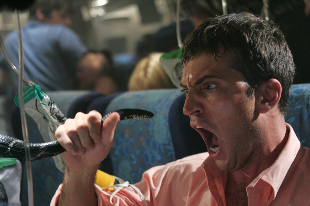 Schlangen, einfach überall Schlangen: Nicht nur Tyler (Tygh Runyan) fürchtet um sein Leben ... - Bildquelle: Warner Brothers