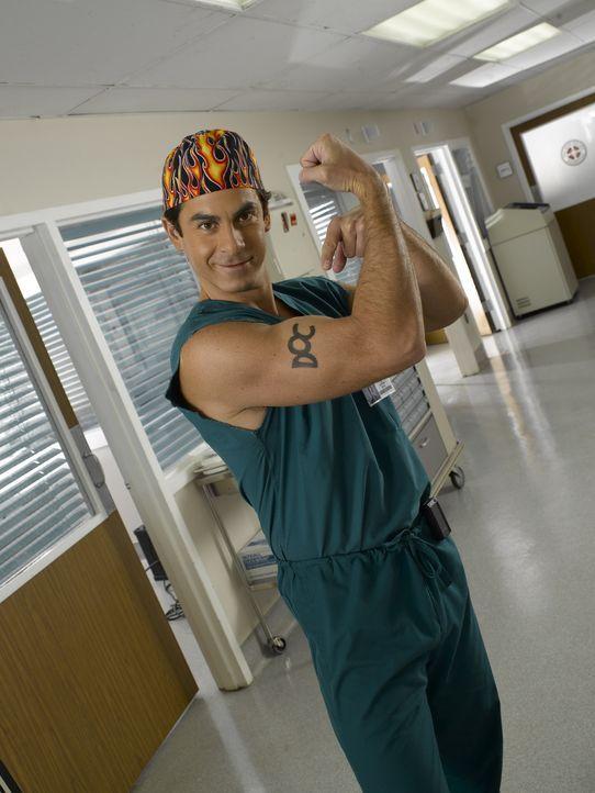 """(7. Staffel) - Dr. Todd """"The Todd"""" Quinlan (Robert Maschio), Turks prolliger und stets ärmelloser Chirurgiekollege, ist nie um ein High-Five oder ei... - Bildquelle: Touchstone Television"""