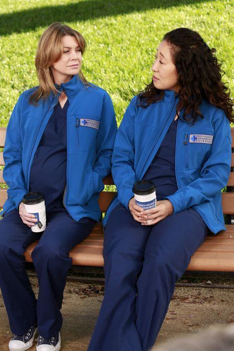 Christina (Sandra Oh, r.) möchte nicht die Vormundschaft für Merediths (Ellen Pompeo, l.) Kinder übernehmen, falls ihr etwas zustoßen würde ... - Bildquelle: ABC Studios