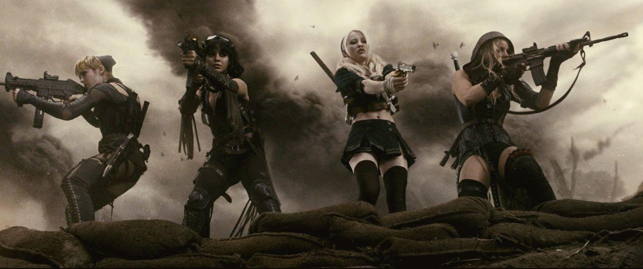 (v.l.n.r.) Rocket (Jena Malone); Blondie (Vanessa Hudgens); Babydoll (Emily Browning); Sweet Pea (Abbie Cornish) - Bildquelle: Warner Bros.
