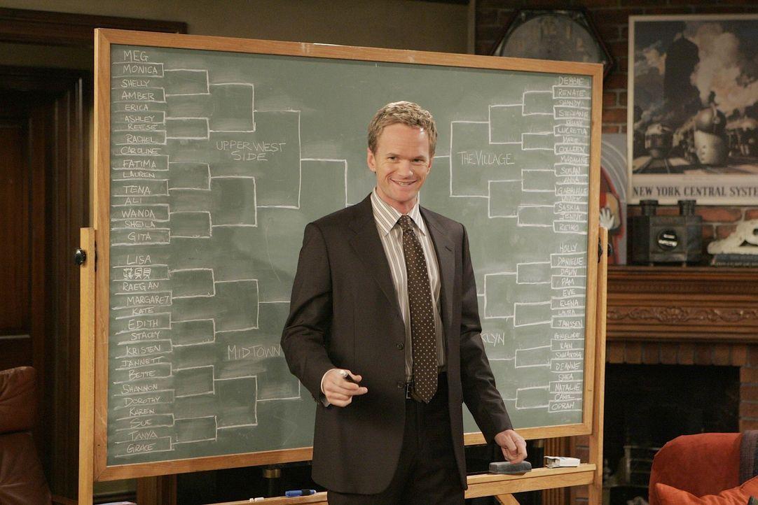 Nachdem Lily in einer Bar vor Barney (Neil Patrick Harris) gewarnt wird - will er herausfinden, wer diese ist. Ein umfangreiche Recherche beginnt ... - Bildquelle: 20th Century Fox International Television