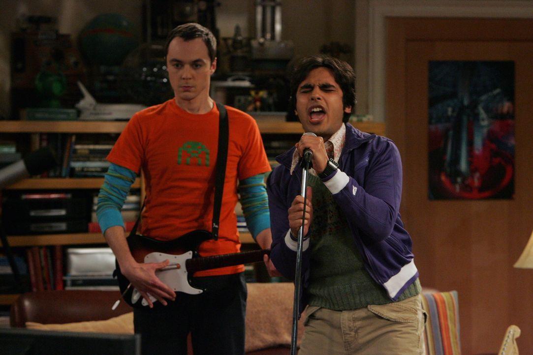 Richtige Stars: Sheldon (Jim Parsons, l.) und Rajesh (Kunal Nayyar, r.) ... - Bildquelle: Warner Bros. Television