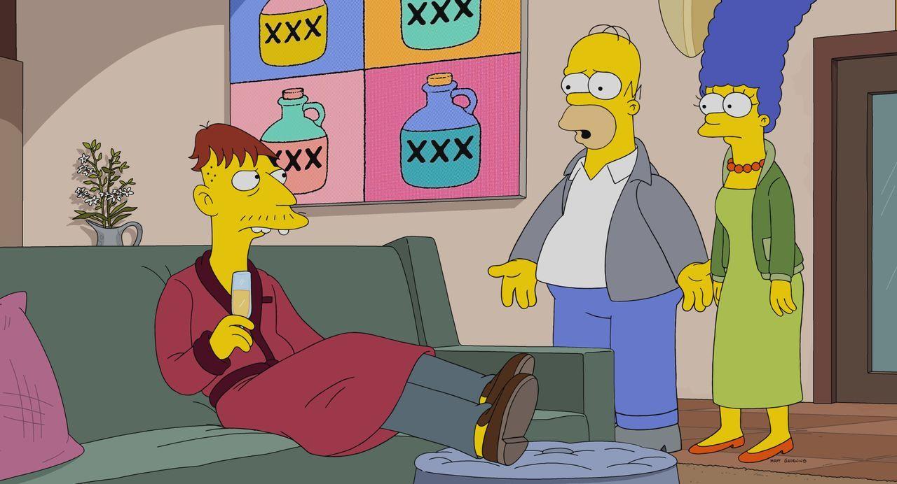 (v.l.n.r.) Cletus; Homer; Marge - Bildquelle: 2021 by 20th Television.