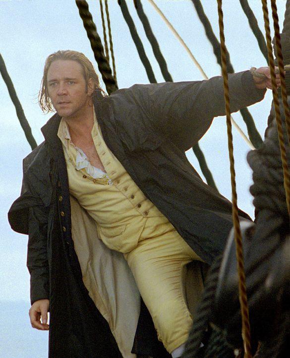 """1805, die Napoleonischen Kriege bedrohen immer mehr auch die Seemacht England. """"Lucky"""" Jack Aubrey (Russell Crowe) ist Kapitän des britischen Schiff... - Bildquelle: 2003 Twentieth Century Fox Film Corporation, Miramax Film Corp. and Universal City Studios LLLP. All rights reserved."""