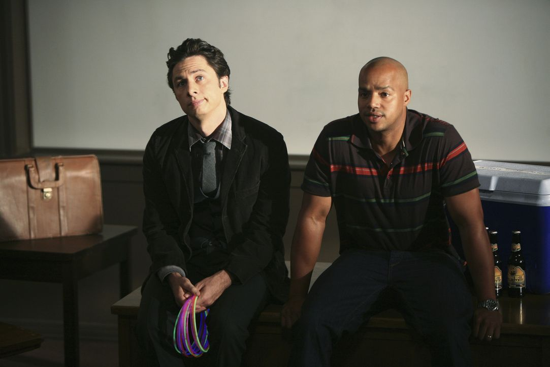 Sind J.D. (Zach Braff, l.) und Turk (Donald Faison, r.) wahre Vorbilder? - Bildquelle: Touchstone Television