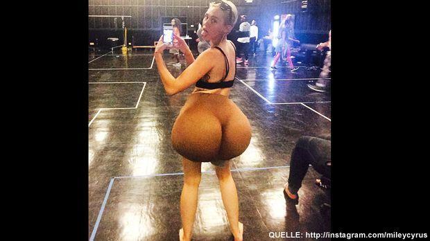 Miley-Cyrus-fat-ass-Instagram - Bildquelle: http://instagram.com/mileycyrus