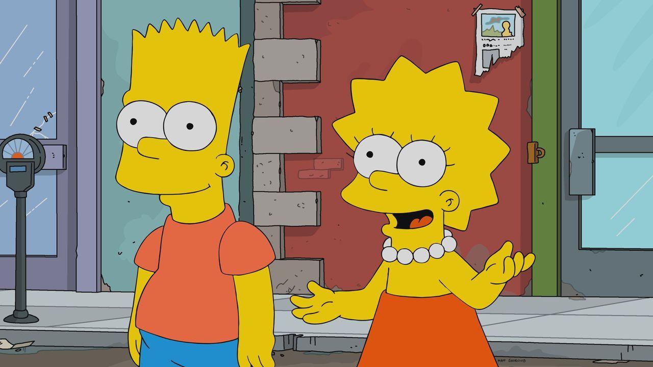 Bart (l.); Lisa (r.) - Bildquelle: 2021 by 20th Television.