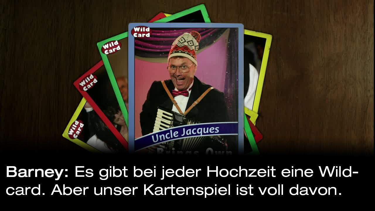 How-I-Met-Your-Mother-Zitate-Staffel-9-2-Barney-Wildcard - Bildquelle: 20th Century Fox Film Corporation all rights reserved.