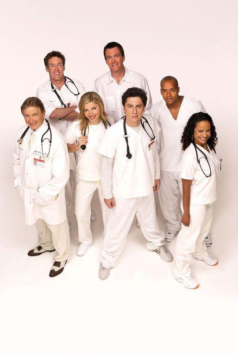 (3. Staffel) - Täglich fordert der Krankenhaus-Alltag den totalen Einsatz von den Halbgötter in Weiß: (v.l.n.r.) Dr. Bob Kelso (Ken Jenkins), Dr. Ph... - Bildquelle: Touchstone Television