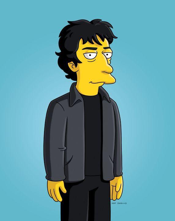 Hilft Homer dabei ein Buch zu schreiben: Neil Gaiman ... - Bildquelle: und TM Twentieth Century Fox Film Corporation - Alle Rechte vorbehalten