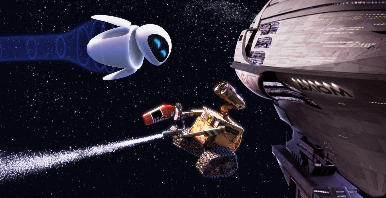 Verlieren ihr Herz auf immer und ewig: Wall-E und EVE ... - Bildquelle: Touchstone Pictures