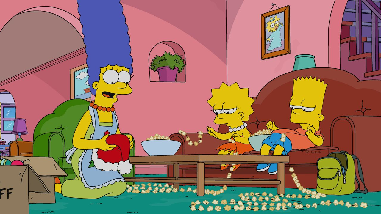 (v.l.n.r.) Marge; Lisa; Bart - Bildquelle: 2019-2020 Twentieth Century Fox Film Corporation.  All rights reserved.