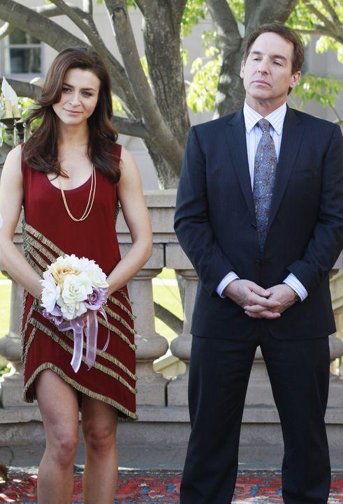 Nehmen an der Hochzeitsfeier von Bizzy und Susan teil: Sheldon (Brian Benben, r.) und Amelia (Caterina Scorsone, l.) ... - Bildquelle: ABC Studios