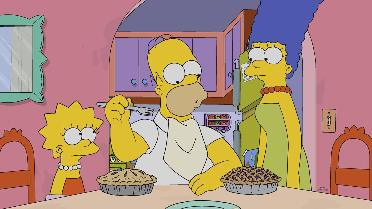 (v.l.n.r.) Lisa; Homer; Marge - Bildquelle: 2018-2019 Fox and its related entities. All rights reserved.