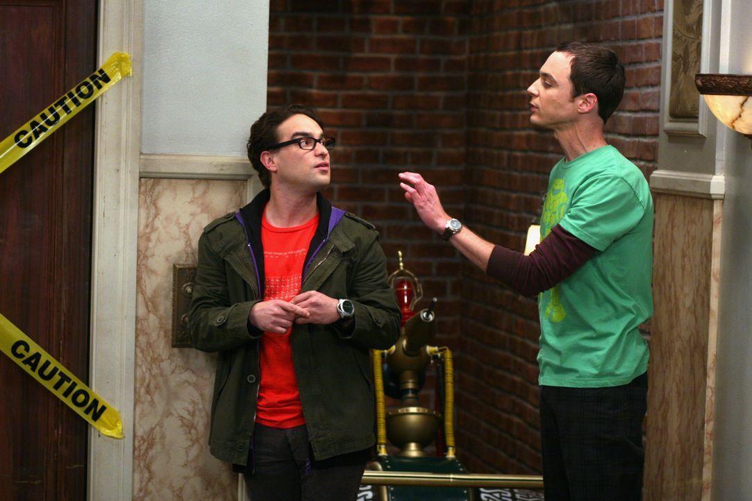 Leonard Hofstadter (Johnny Galecki, l.); Sheldon Cooper (Jim Parsons, r.) - Bildquelle: Warner Bros. Television