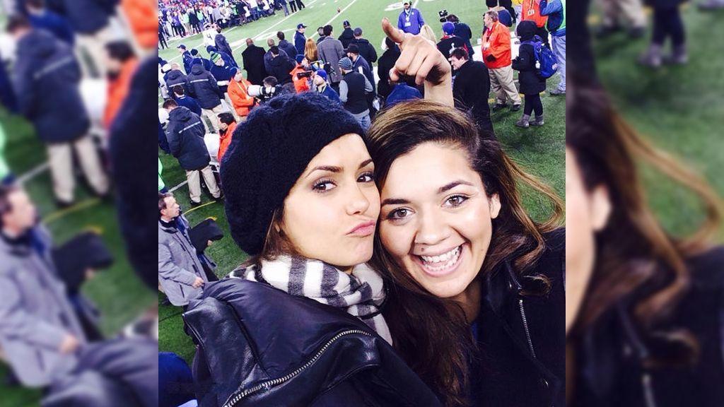 """Nina Dobrev beim """"Super Bowl 2014"""": Spaß beim größten Sportevent der Welt - Bildquelle: Instagram/ninadobrev"""