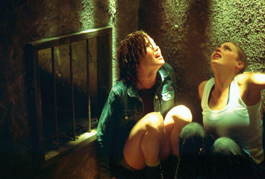 Ursprünglich wollten die Studentinnen Kristy (Estella Warren, r.) und Sharon (Ashley Scott, l.) Recherchen für eine Studienarbeit vornehmen. Jetzt s... - Bildquelle: HSI Entertainment