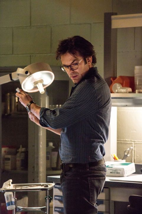 Selbst das gefangene Jungtier verhält sich gegenüber Mitch (Billy Burke) ungewohnt aggressiv ... - Bildquelle: Steve Dietl 2015 CBS Broadcasting Inc. All Rights Reserved.