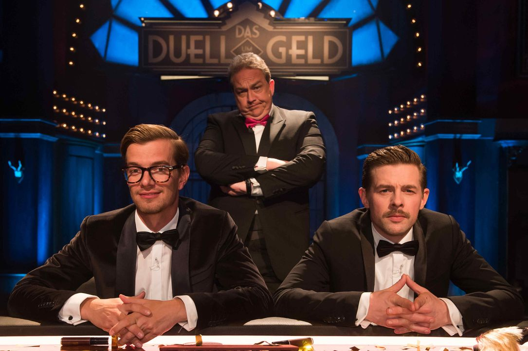 """""""Duell um die Geld"""" mit Joko Winterscheidt (l.), Klaas Heufer-Umlauf (r.) und Oliver Kalkofe (M.) ... - Bildquelle: Claudius Pflug ProSieben"""