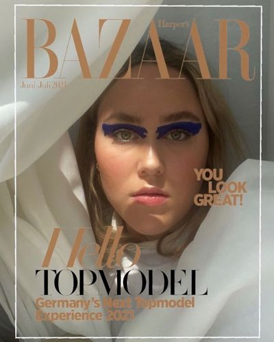 Gewinnerin der Harper's BAZAAR Cover Challenge