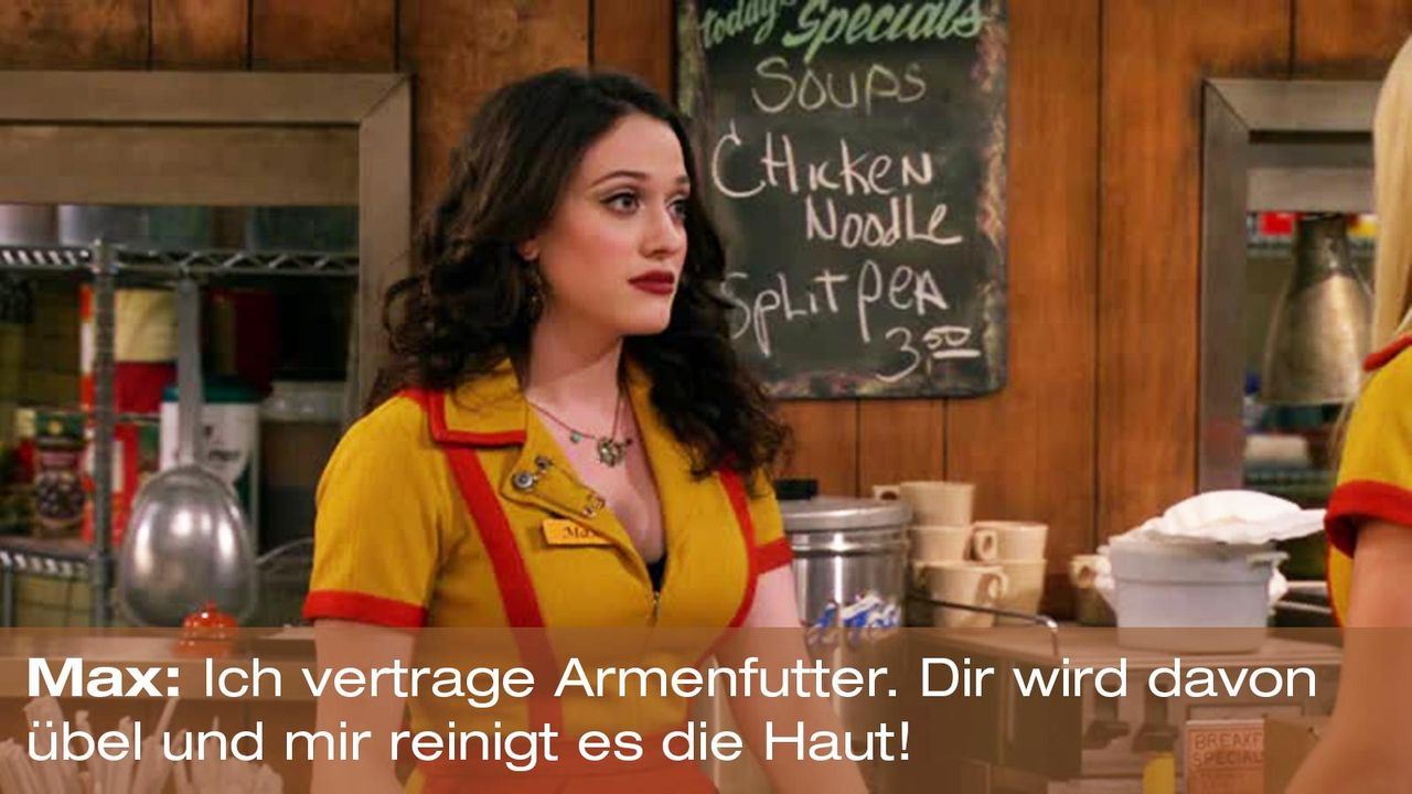 2-broke-girls-zitat-quote-staffel2-episode6-suesse-versuchung-max-armenfutter-warnerpng 1600 x 900 - Bildquelle: Warner Brothers Entertainment Inc.