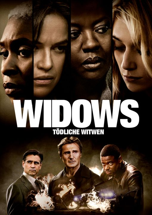 Widows - Tödliche Witwen - Artwork - (oben v.l.n.r.) Belle (Cynthia Erivo); Linda (Michelle Rodriguez); Veronica Rawlings (Viola Davis); Alice (Eliz... - Bildquelle: 2018 Twentieth Century Fox Film Corporation.  All rights reserved.