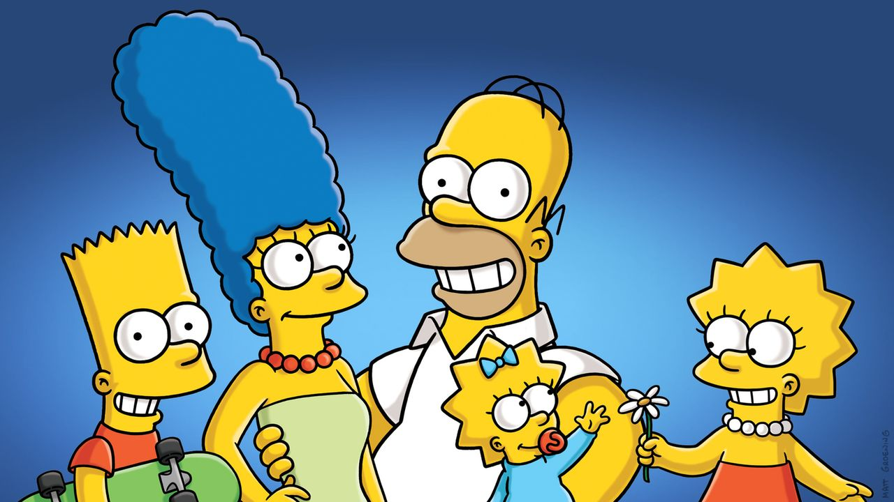 (26. Staffel) - Eine etwas ungewöhnliche Familie: Maggie (2.v.r.), Marge (2.v.l.), Homer (M.), Bart (l.) und Lisa Simpson (r.) ... - Bildquelle: 2014 Fox and its related entities. All rights reserved