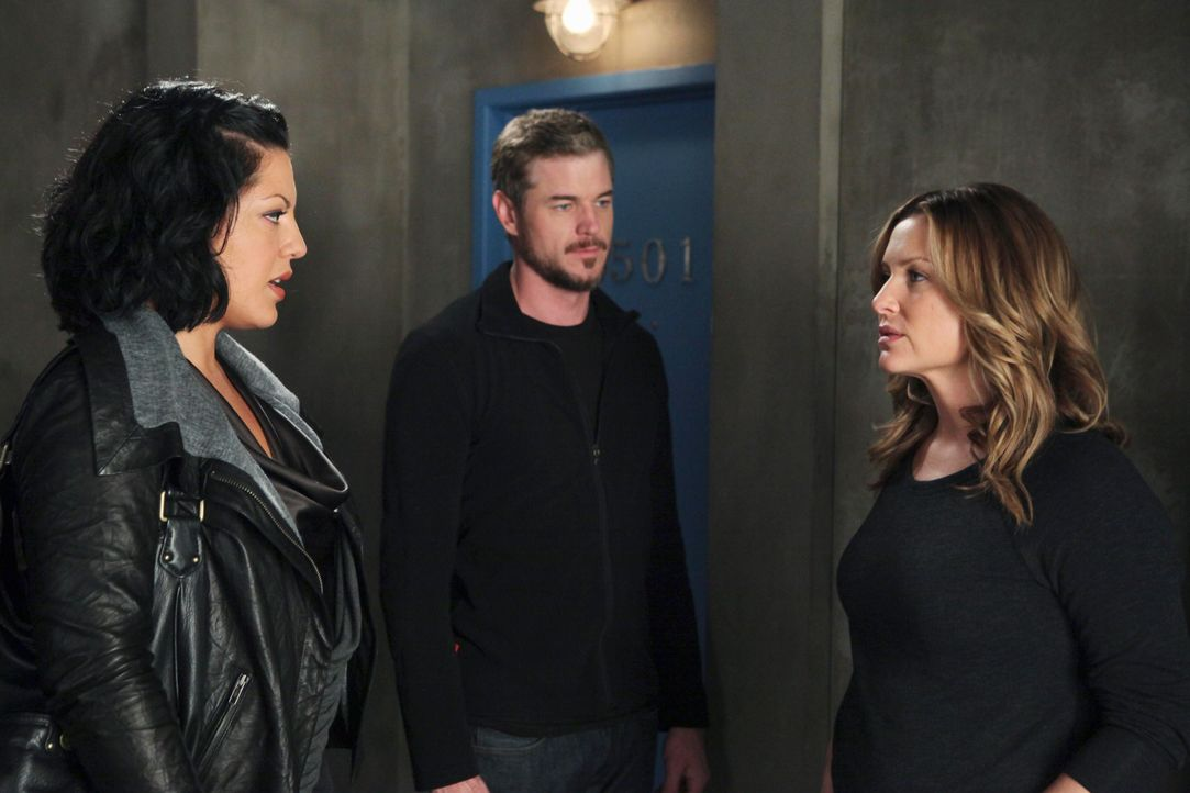 Grey's Anatomy – Mark und Lexie – 21: Callie (Sara Ramirez), Mark (Eric Dane), Arizona - Bildquelle: ABC Studios
