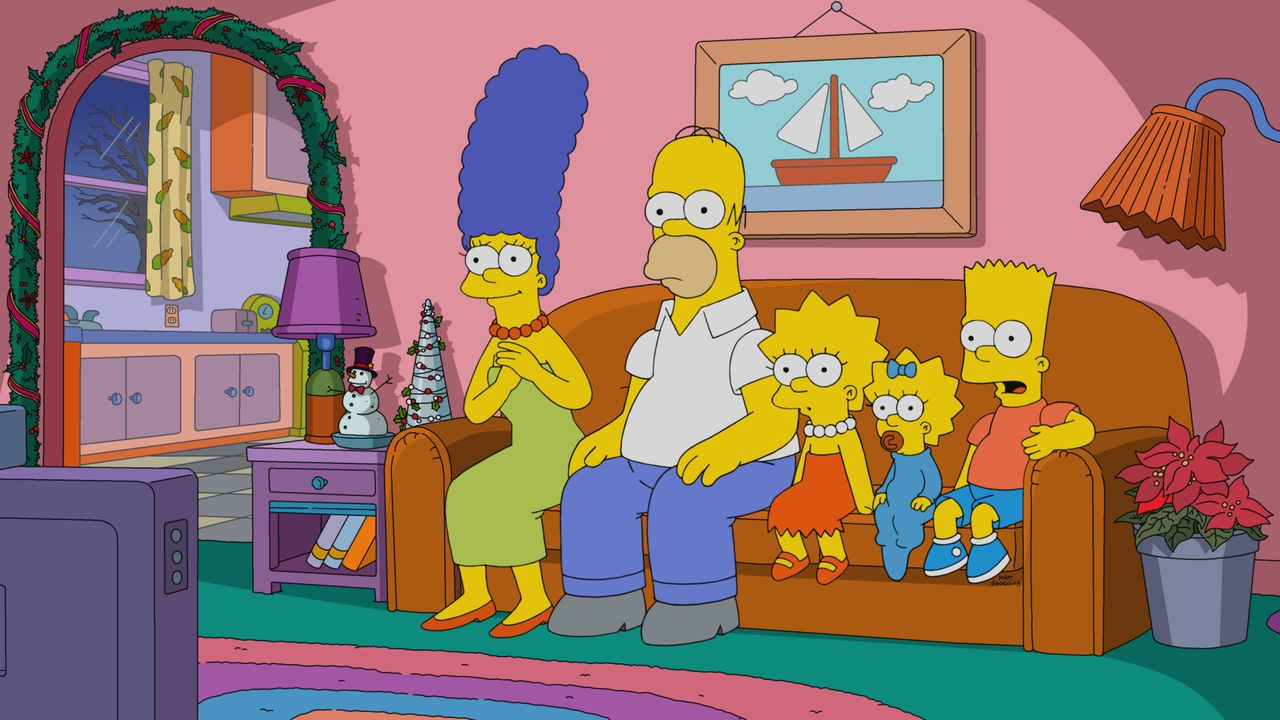 (v.l.n.r.) Marge; Homer; Lisa; Maggie; Bart - Bildquelle: 2020 by Twentieth Century Fox Film Corporation.