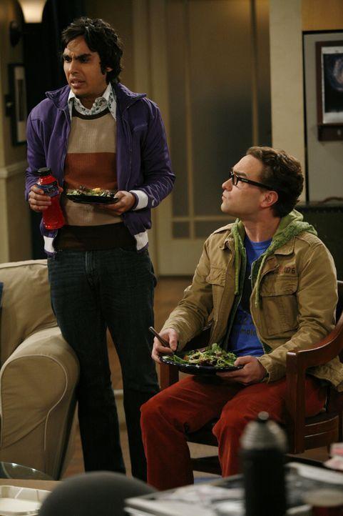 Rajesh Koothrappali (Kunal Nayyar, l.); Leonard Hofstadter (Johnny Galecki, r.) - Bildquelle: Warner Bros. Television