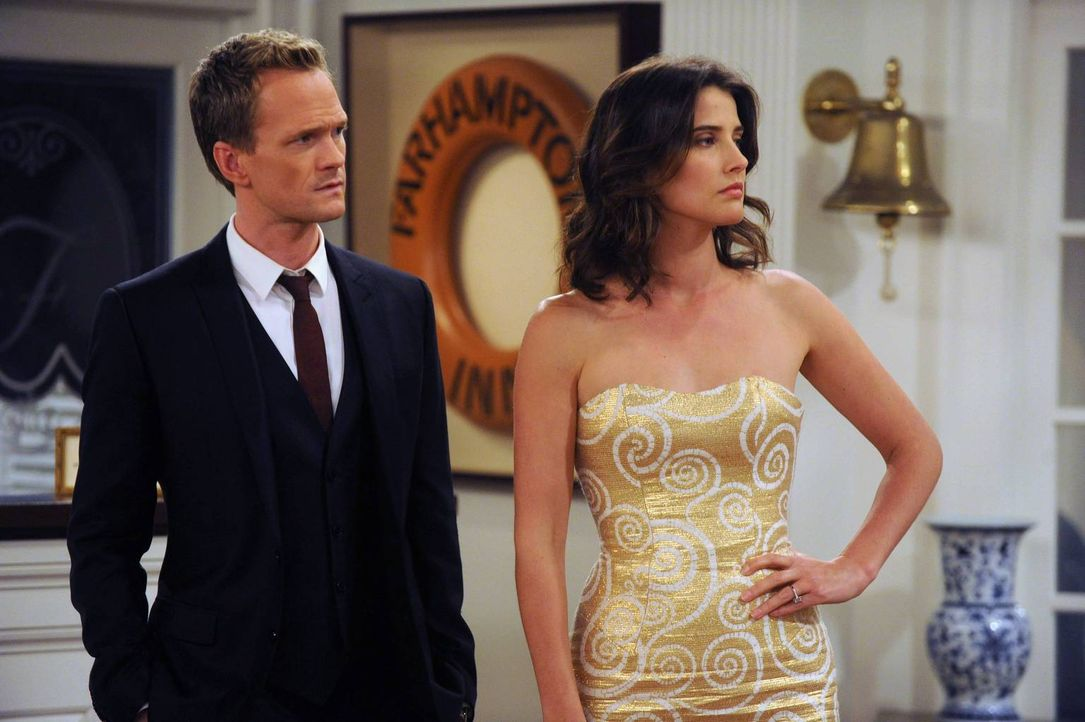 Barney (Neil Patrick Harris, l.) und Robin (Cobie Smulders, r.) treffen auf einen Kerl namens Darren, der absichtlich Unruhe in die Hochzeitsgesells... - Bildquelle: 2013 Twentieth Century Fox Film Corporation. All rights reserved.