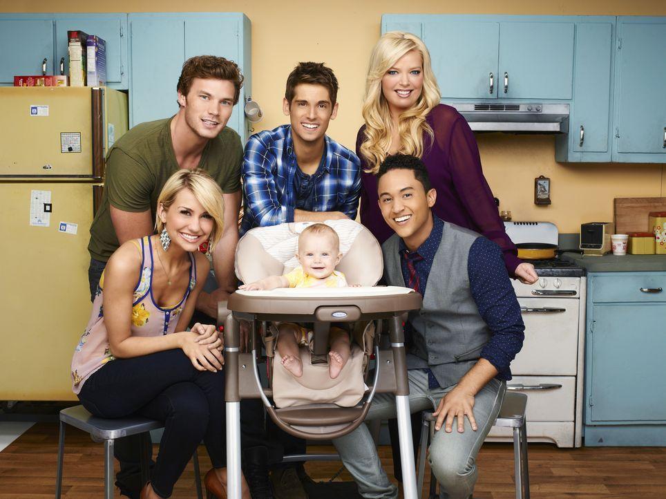 (1. Staffel) - Ben (Jean-Luc Bilodeau, hinten M.) wird plötzlich Vater, als seine Ex-Freundin ihm ein Baby, von dem er bis dato nichts wusste, vor d... - Bildquelle: Andrew Eccles ABC Family
