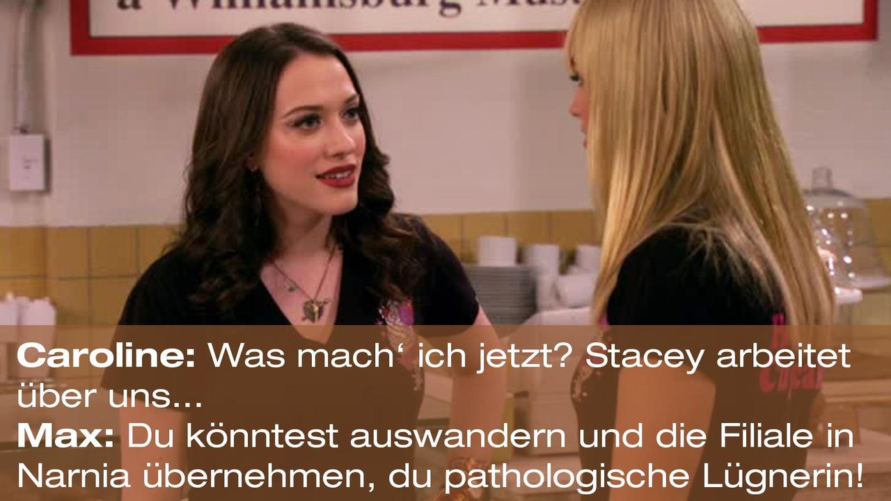 2-broke-girls-zitat-quote-staffel2-episode11-geschaeftspartnerin-max-luegnerin-warnerpng 1600 x 900 - Bildquelle: Warner Bros. International Television