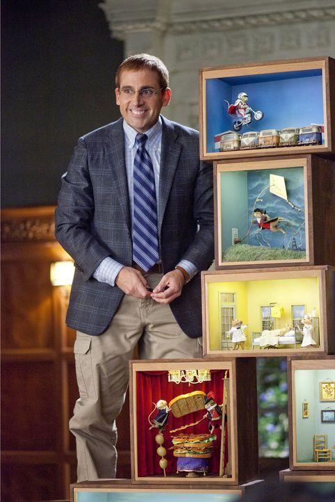 Als der ehrgeizige Manager Tim Barry (Steve Carell) kennen lernt, der in seiner Freizeit ausgeklügelte Schaukästen mit ausgestopften Mäusen bastelt,... - Bildquelle: Merie Weismiller Wallace 2010 DW Studios LLC. All Rights Reserved.