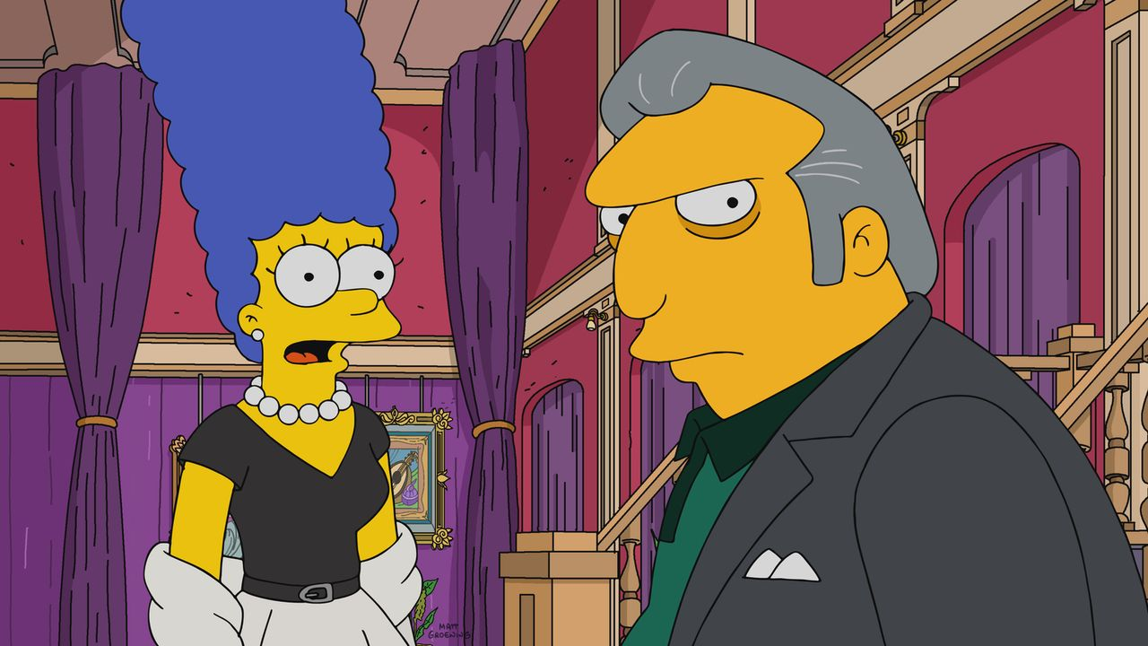 Marge (l.); Fat Tony (r.) - Bildquelle: 2017-2018 Fox and its related entities.  All rights reserved.