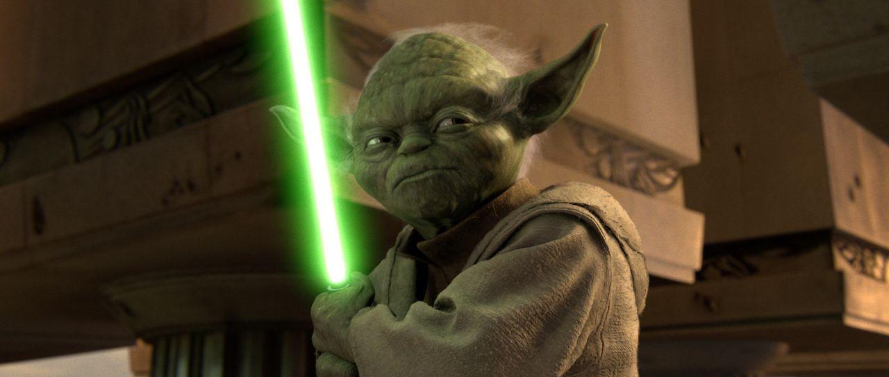 In der Senatshalle von Coruscant fordert Yoda den Imperator zum Duell heraus ... - Bildquelle: Lucasfilm Ltd. & TM. All Rights Reserved.