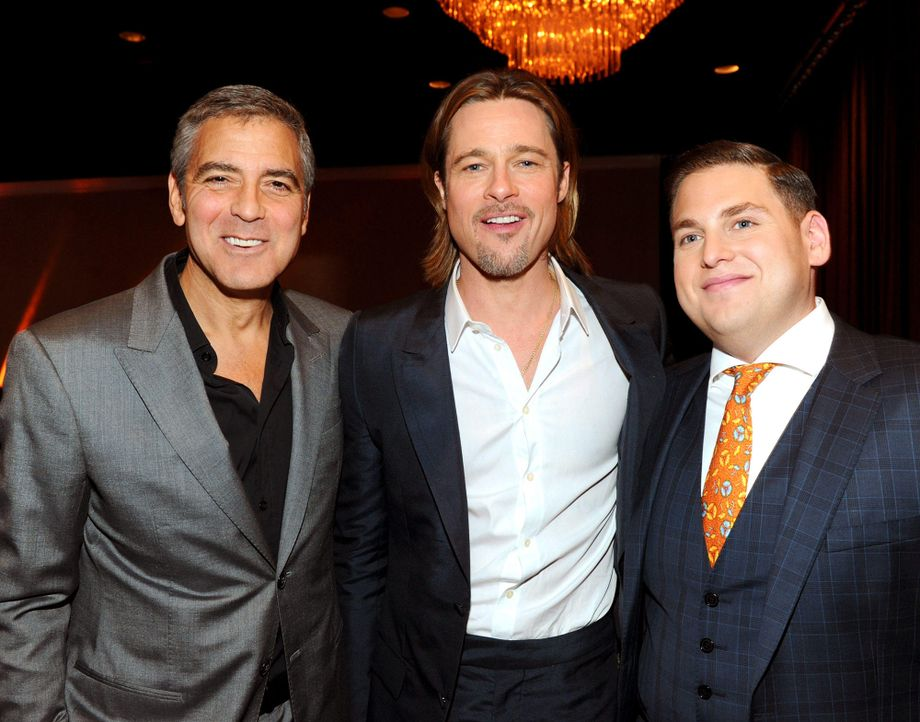 george-clooney-brad-pitt-jonah-hill-12-02-06-getty-afpjpg 2000 x 1570 - Bildquelle: getty-AFP