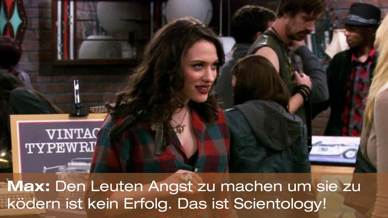 2-broke-girls-zitat-staffel1-episode-22-buttercreme-blamage-max-scientology-warnerpng 1600 x 900 - Bildquelle: Warner Brothers Entertainment Inc.