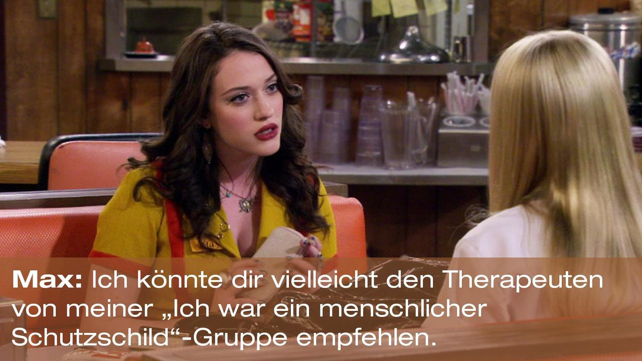 2-broke-girls-zitat-staffel2-episode3-gelbe-gefahr-max-schutzschild-warnerpng 1600 x 900 - Bildquelle: Warner Brothers Entertainment Inc.