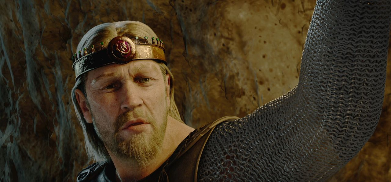 Stellt sich dem Monster Grendel: Beowulf (Ray Winstone) ... - Bildquelle: 2007 Warner Brothers International Television Distribution Inc.