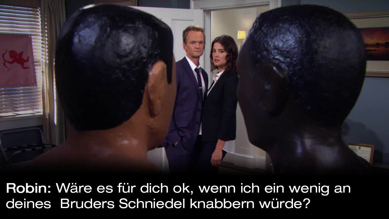 How-I-Met-Your-Mother-Zitate-Staffel-9-9-Robin-schniedel - Bildquelle: 20th Century Fox Film Corporation all rights reserved.
