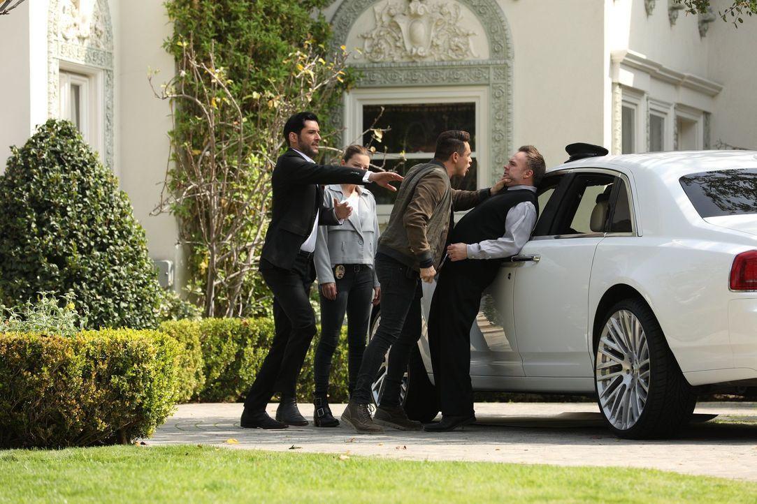(v.l.n.r.) Lucifer (Tom Ellis); Chloe (Lauren German); Dan (Kevin Alejandro); Hanson (Darren O'Hare) - Bildquelle: Jordin Althaus 2017 Fox Broadcasting Co.