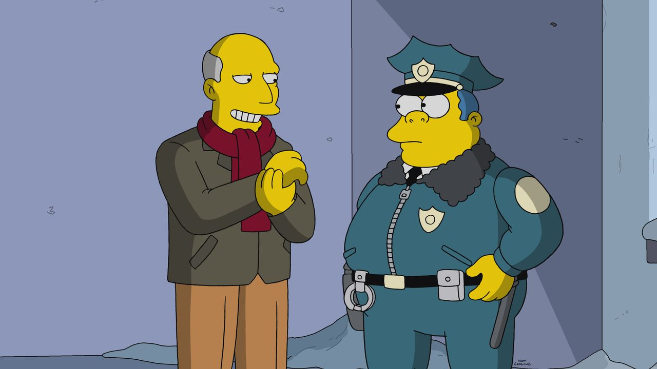 Steve Ballmer (l.); Chief Wiggum (r.) - Bildquelle: 2019-2020 Twentieth Century Fox Film Corporation.  All rights reserved.