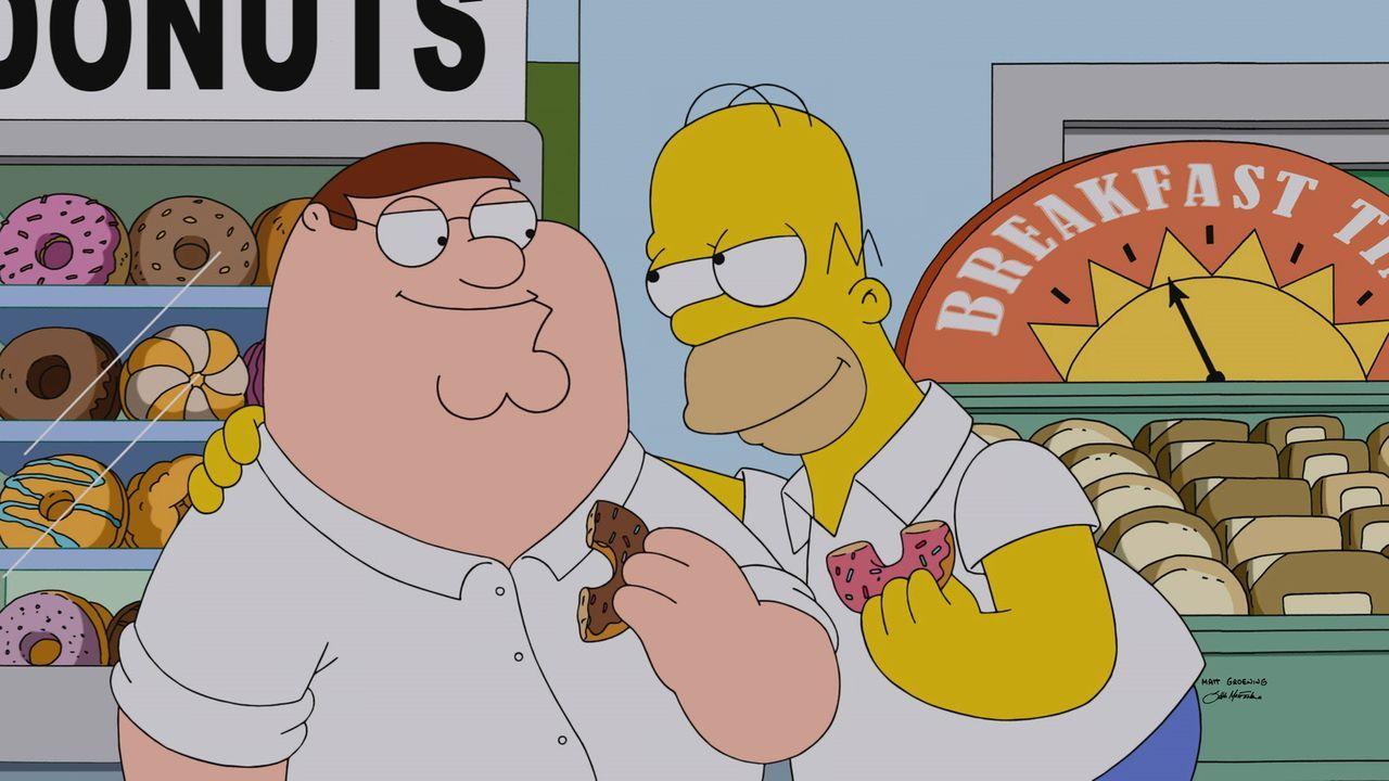 Steht Homer (r.) und Peter (l.) eine große Freundschaft bevor? - Bildquelle: 2015-2016 Fox and its related entities. All rights reserved.